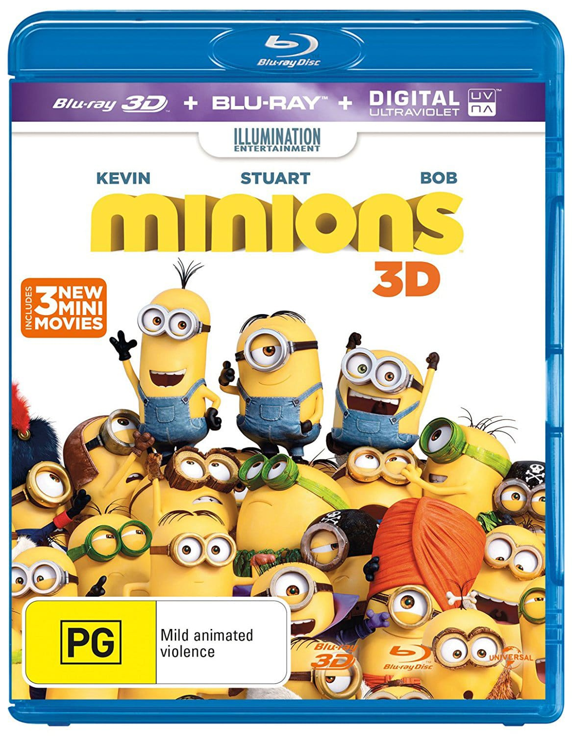 Minions (3D Edition with 2D Edition + UltraViolet Copy) [Blu-ray]