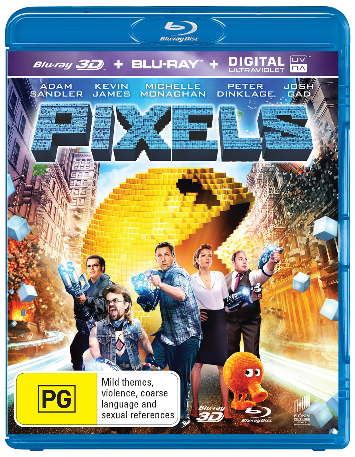 Pixels (3D Edition with 2D Edition) [Blu-ray]