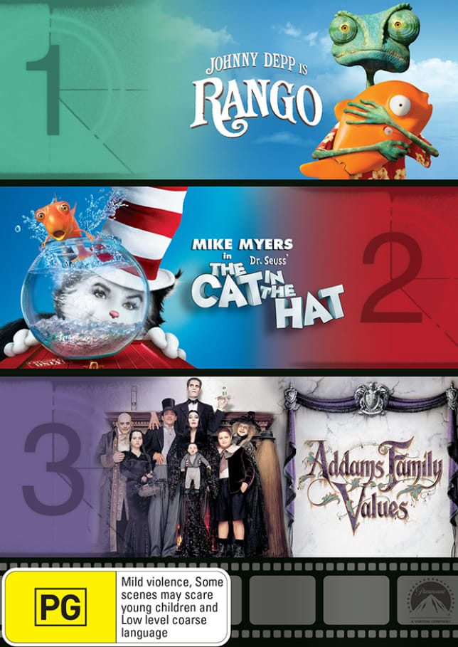 Rango/The Cat in the Hat/Addams Family Values [DVD]