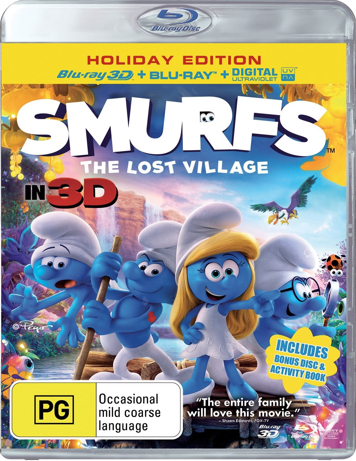 Smurfs - The Lost Village (3D Edition with 2D Edition + UltraViolet Copy) [Blu-ray]