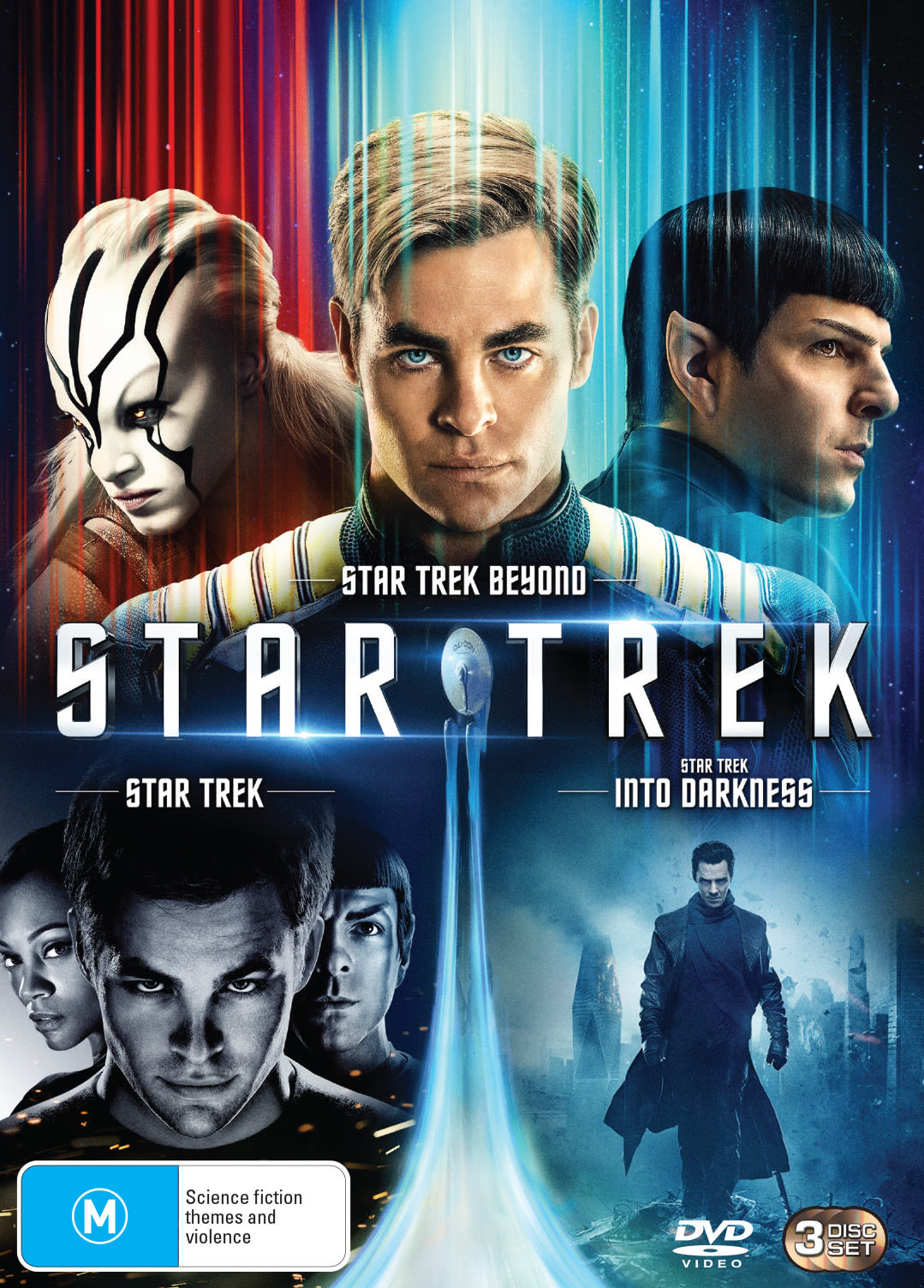 3 MOVIE FRANCHISE PACK: (STAR TREK 2009 / STAR TREK INTO DARKNESS / STAR TREK BEYOND) - 3 DISC - DVD