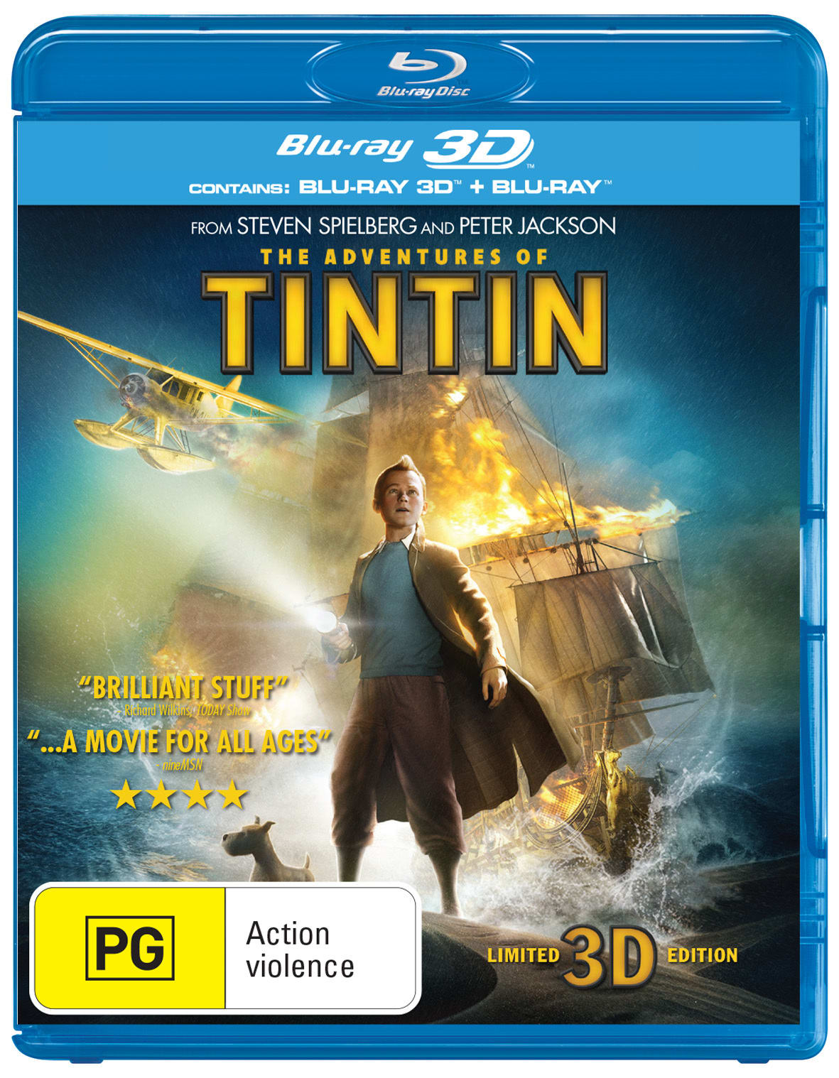 The Adventures of Tintin: The Secret of the Unicorn (3D Edition with 2D Edition) [Blu-ray]