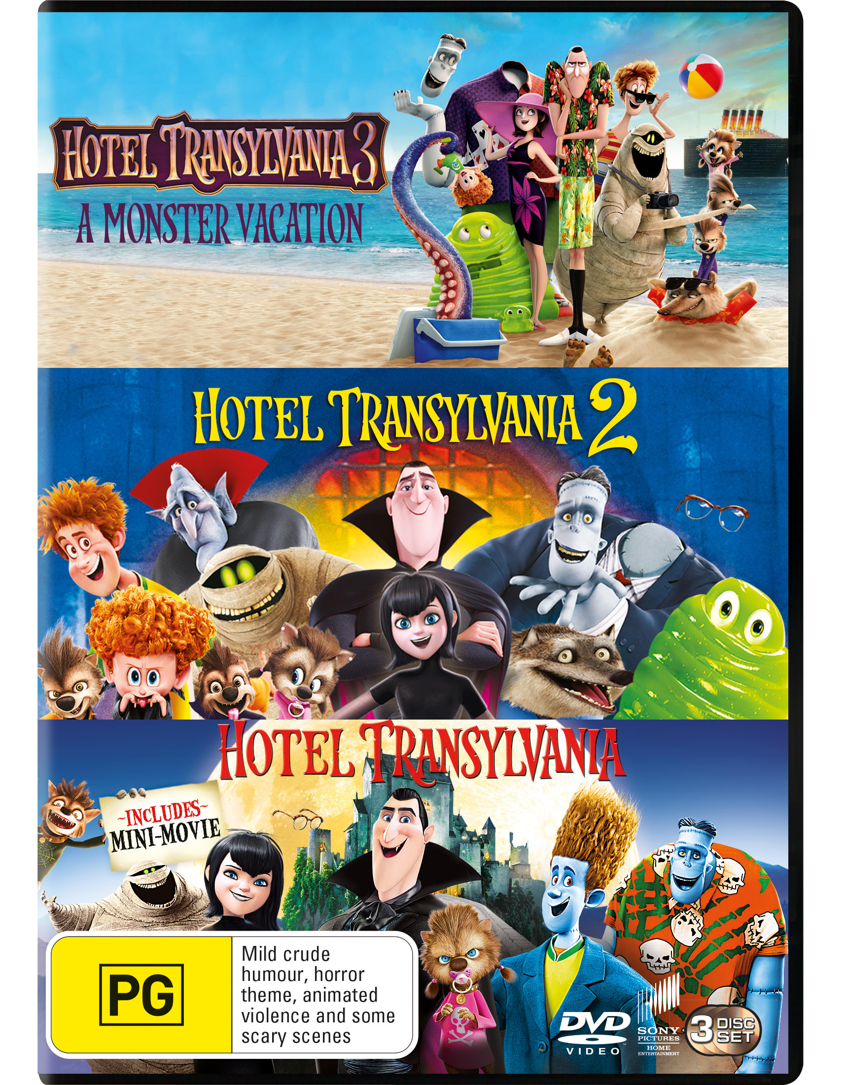 Hotel Transylvania: 3-film Collection (Box Set) [DVD]