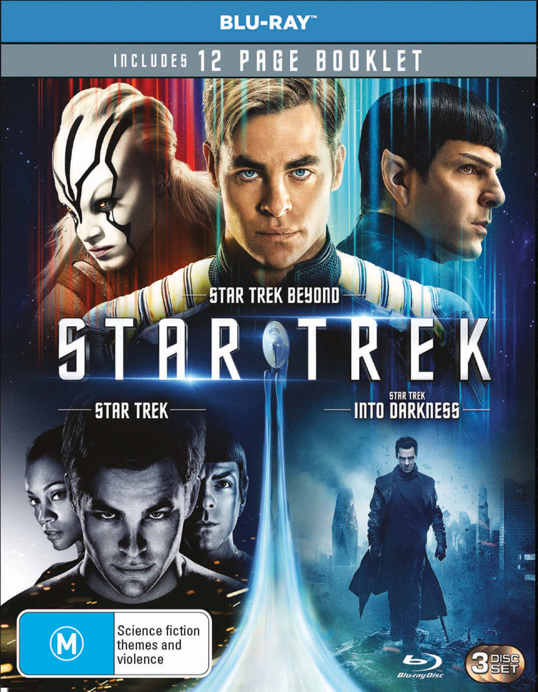 3 MOVIE FRANCHISE PACK (STAR TREK 2009 / STAR TREK INTO DARKNESS / STAR TREK BEYOND) - 3 DISC - BD [