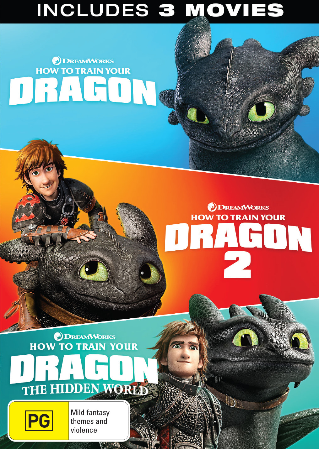 How to Train Your Dragon: 1-3 (Box Set) [DVD]