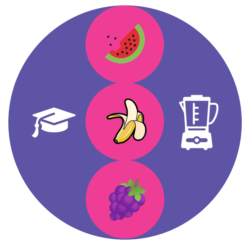 Food education disability support icon