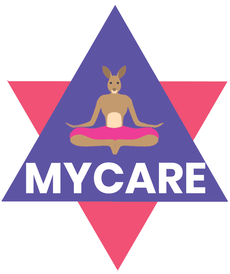 Mindful yoga care disability support icon