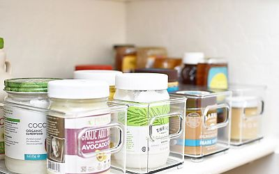 Organizing- Condiments, Nut Butters, and Small Bottles