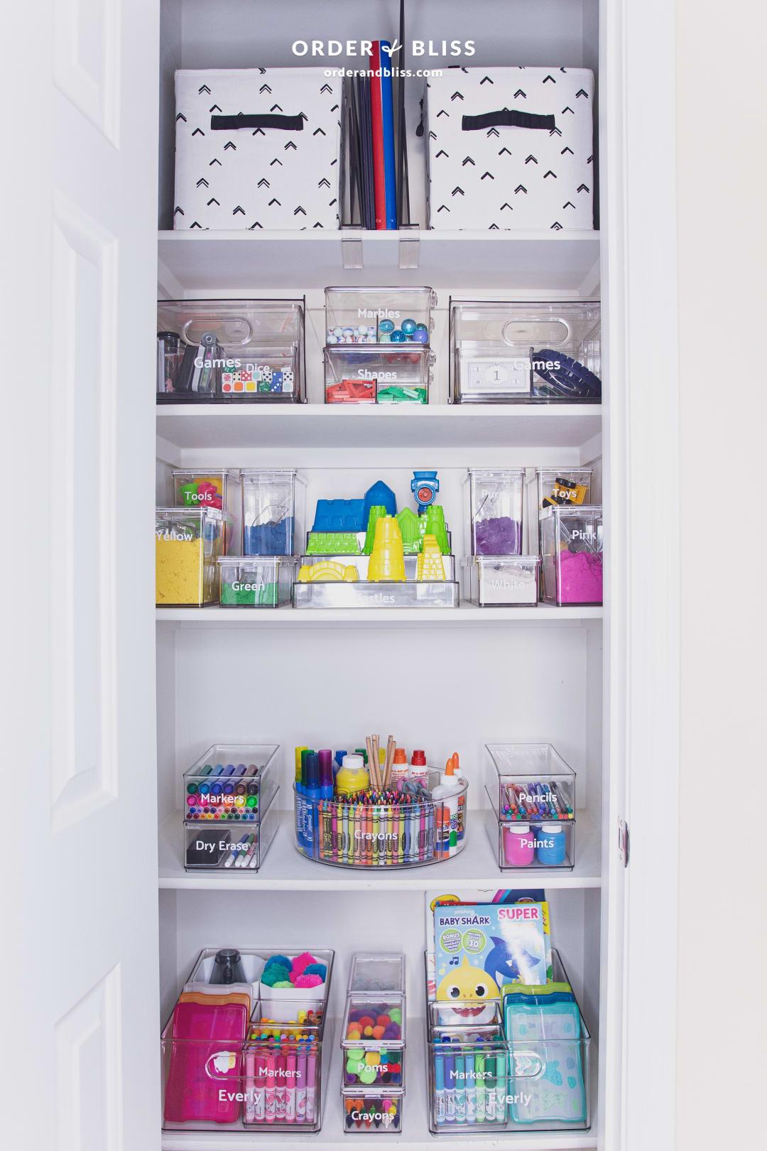 Home school sensory game and craft closet