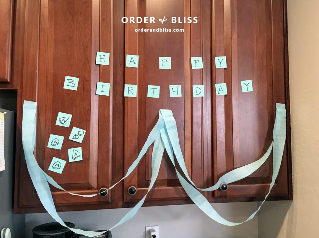 Happy birthday post-it notes