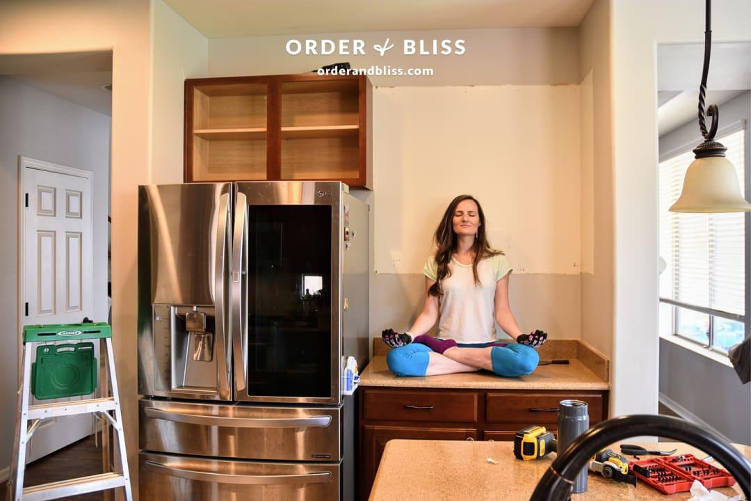 @orderandbliss  kitchen remodel yoga pose