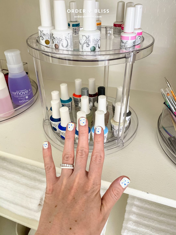 Gelish nail polish organizer