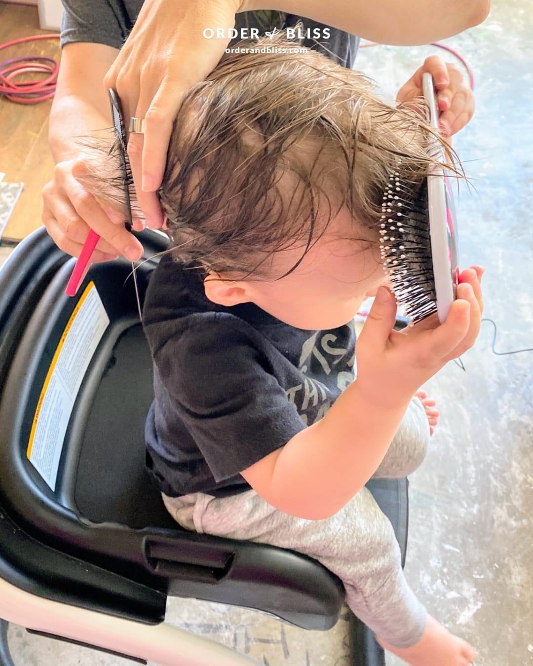 DIY toddler boy haircut