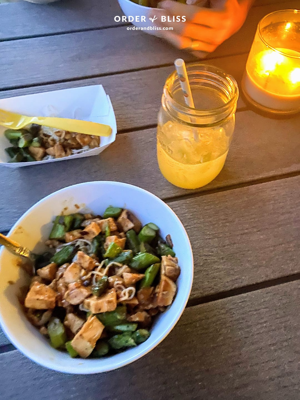 Chicken asparagus bowl