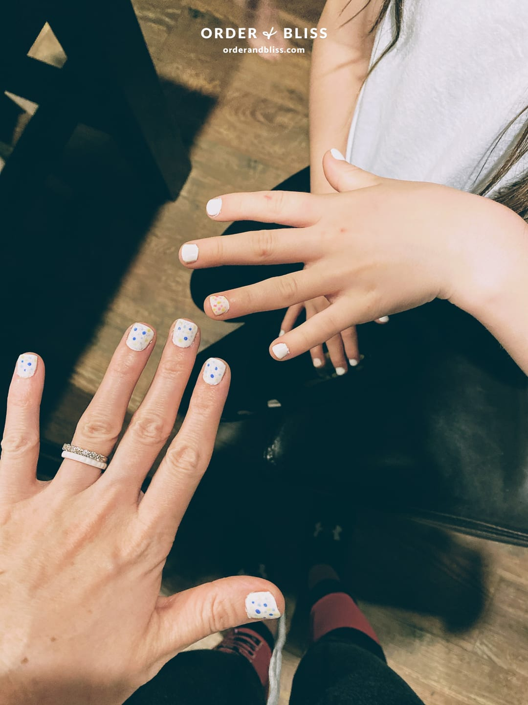 Mom & daughter matching gel nails