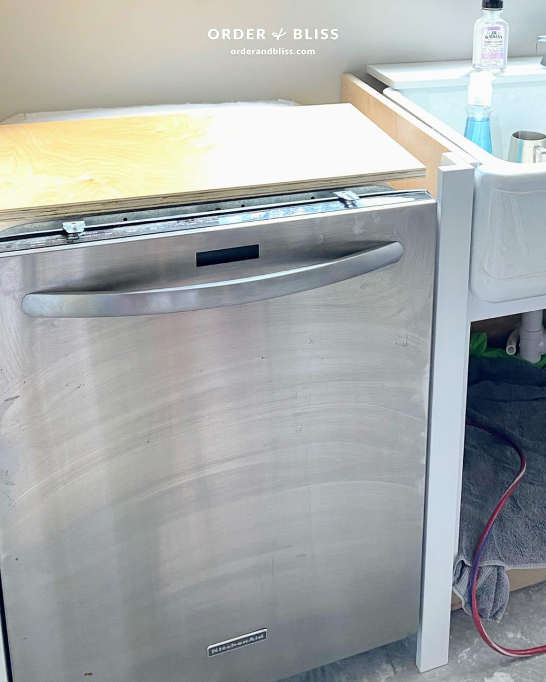 KitchenAid dishwasher during kitchen remodel