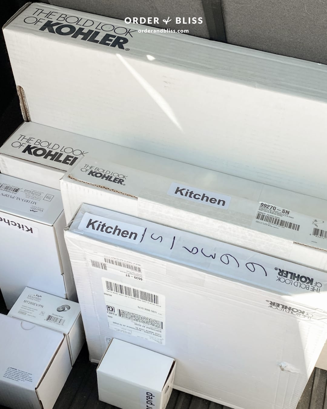 Kohler kitchen faucet boxes