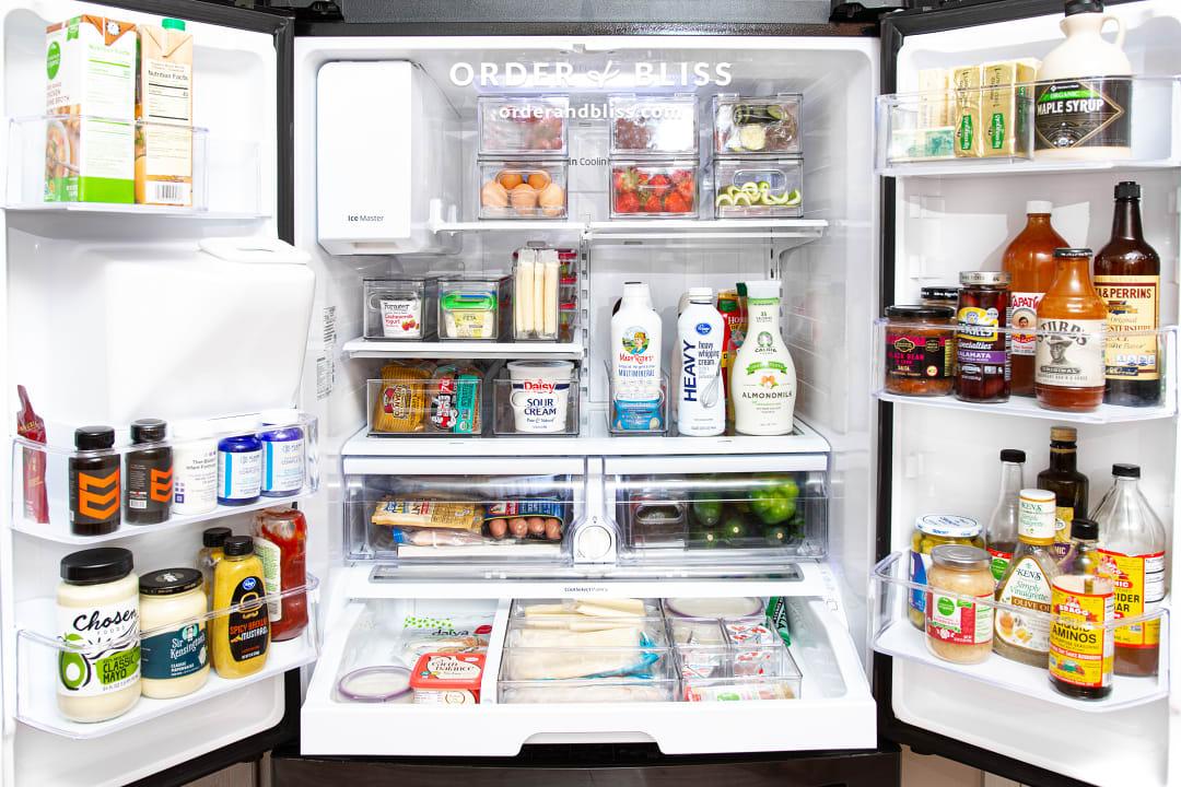 Heathers organized fridge