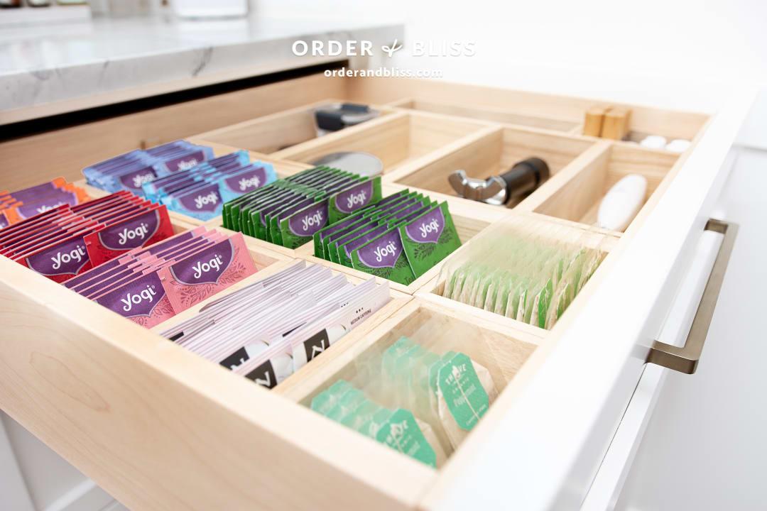 Organized Tea and Coffee Drawer