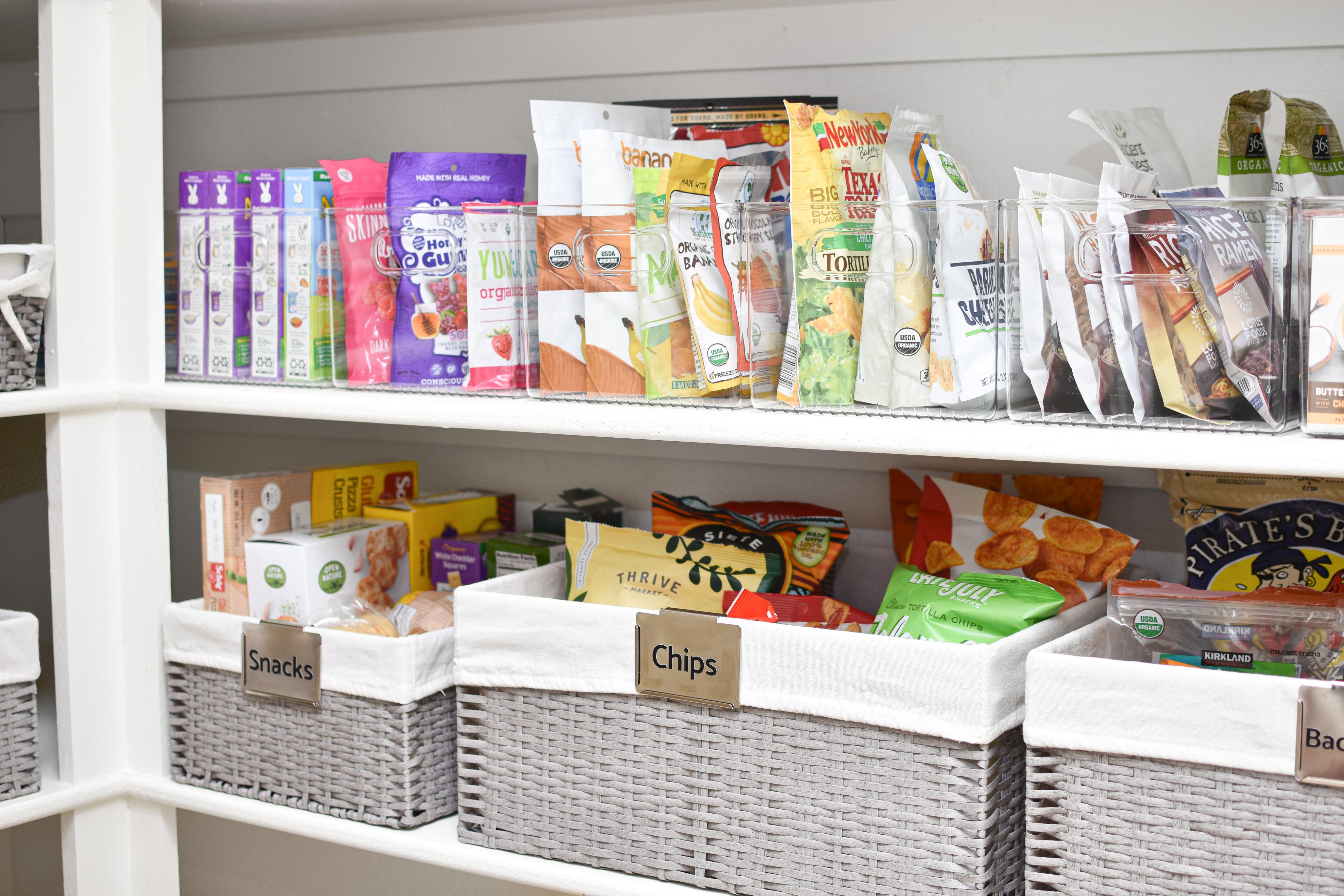Organized walk-in pantry