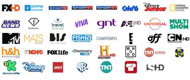 Grade de canais Super HD TV