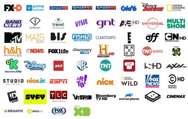 Grade de canais Ultra HD TV