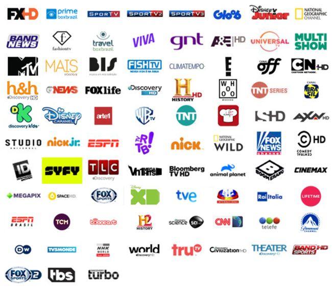 Grade de canais Ultimate HD TV