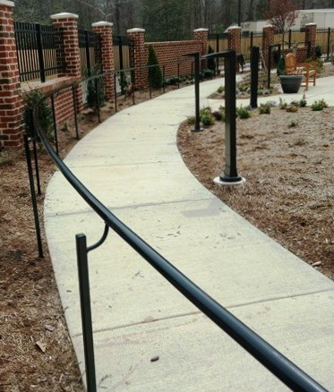 Path with railings and fence