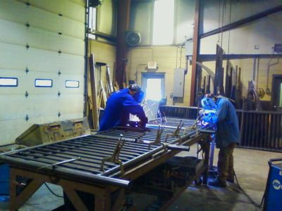 Building a railing in our workshop