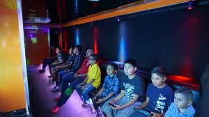Game Truck Rialto California New Age Gaming Kids Playing Video Games in Our Video Game Truck