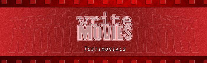 WriteMovies Testimonials