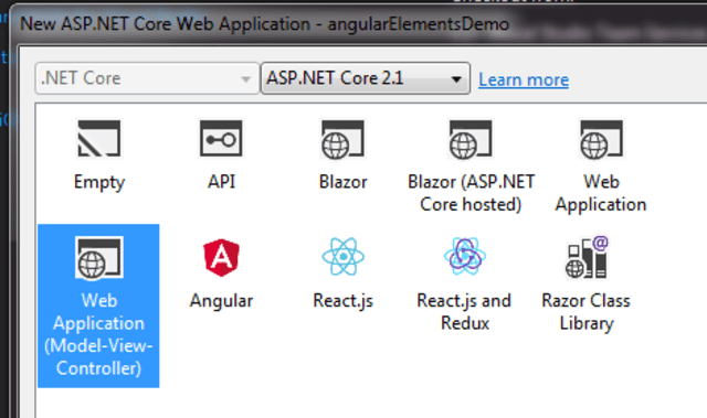 Angular Elements - How to use in ASP NET Core using Angular
