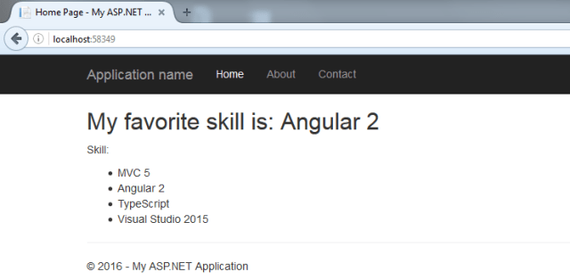 ASP NET MVC 5 - Using Angular 6 with TypeScript in Visual Studio