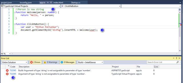 Build errors in TypeScript Code