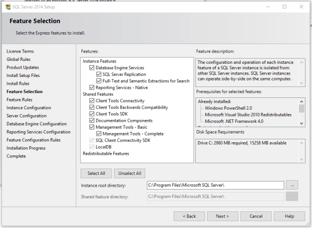 Installation of SQL Server Express 2014 on Windows 10 | Mithunvp com
