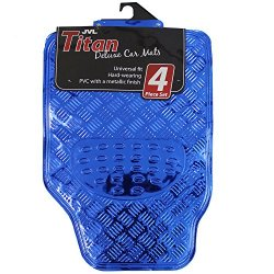 JVL Titan - Set di 4 tappetini per auto, in...