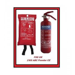 2KG DRY POWDER FIRE EXTINGUISHER WITH BLANKET...
