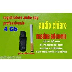 REGISTRATORE 4GB AUDIO SPY PROFESSIONALE SPIA...