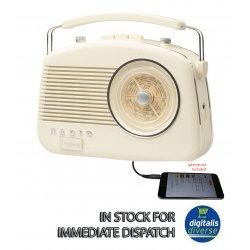 50s VINTAGE COMPACT & PORTABLE CREAM FM RADIO...