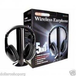 Cuffie Hi-Fi Wireless Senza fili 5in1 per Tv Mp3...