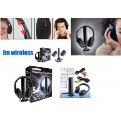 Cuffie Stereo Wireless 5 IN 1 Senza Fili WIFI...