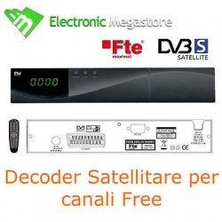 RICEVITORE DECODER SATELLITARE DIGITA FREE CON...
