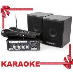 IMPIANTO KARAOKE AMPLIFICATO 2 casse acustiche +...