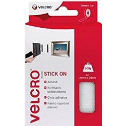 Velcro EC60210 Nastro, 20 mm x 1 m, Bianco