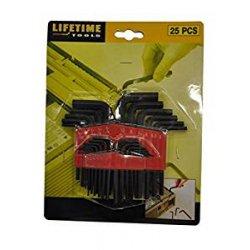 Lifetime Tools 43260 - Mazzo di 25 chiavi a...