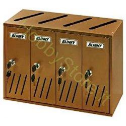 Blinky K4 4-Box Ramato Casellari Postali,...