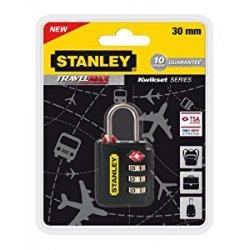 Stanley 81140393401 Lucchetto TSA a 3 Cifre Nero...
