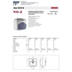 ARISTON 3100321 Scaldabagno Elettrico Blu EVO R...