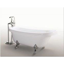 Vasca da bagno Margherita freestanding bianca con...