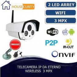 IP CAMERA P2P TELECAMERA WIRELESS WIFI IR...